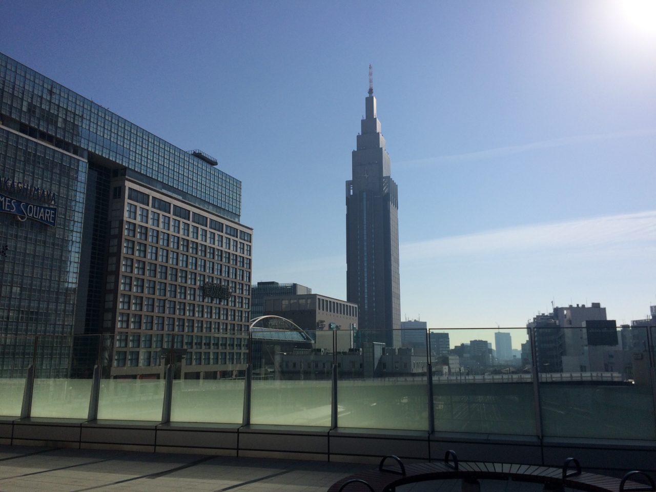 タカシマヤタイムズスクエアとNTTドコモ代々木ビルの写真