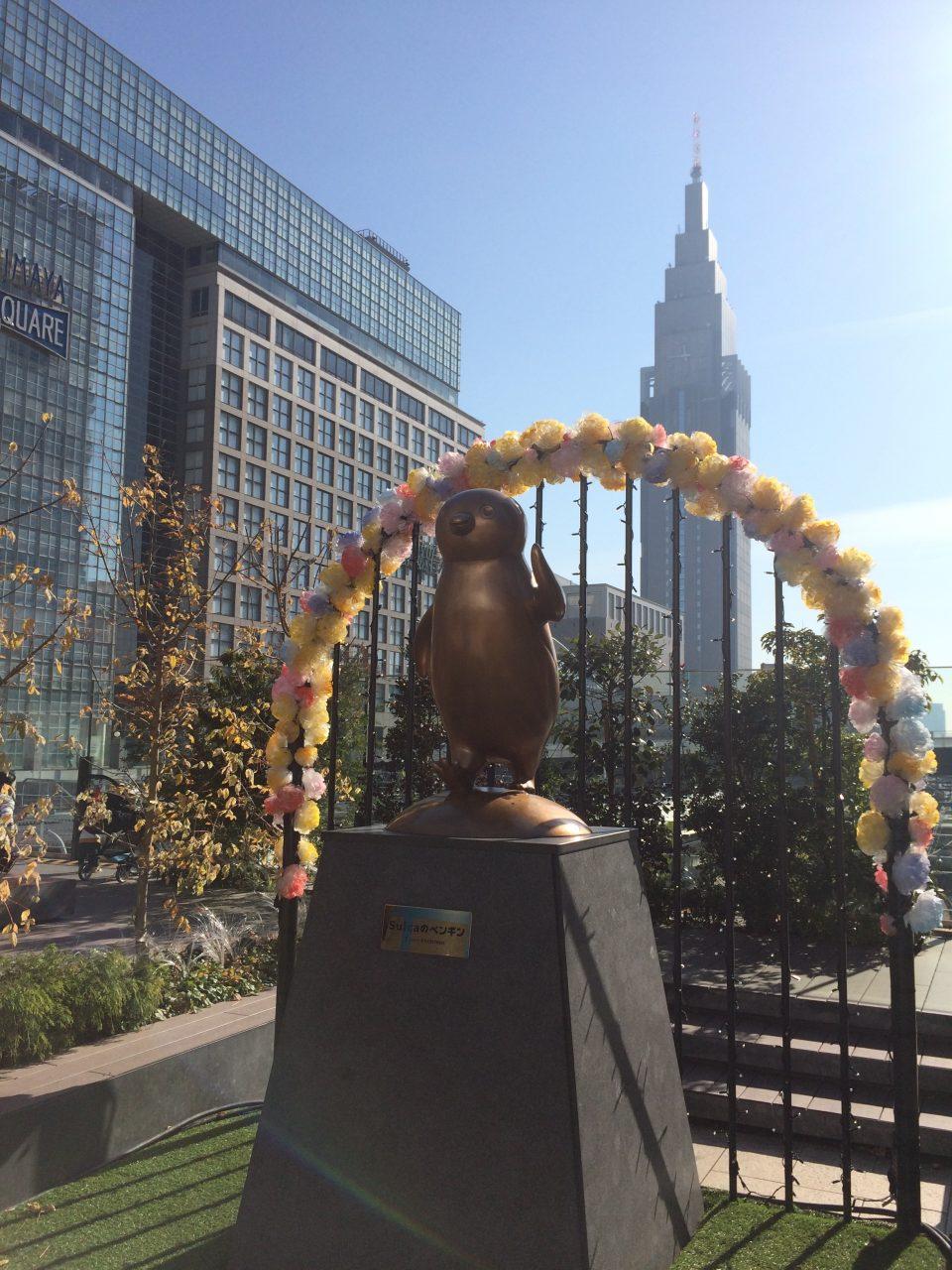 suicaのペンギン広場のsuicaのペンギン像の写真