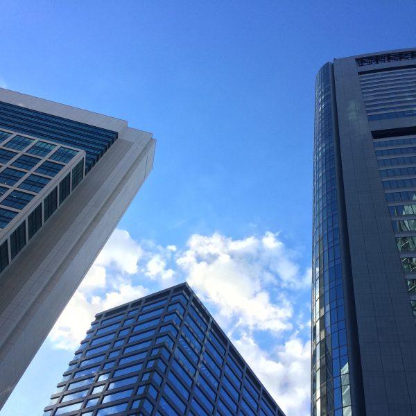 汐留の高層ビル街5の写真