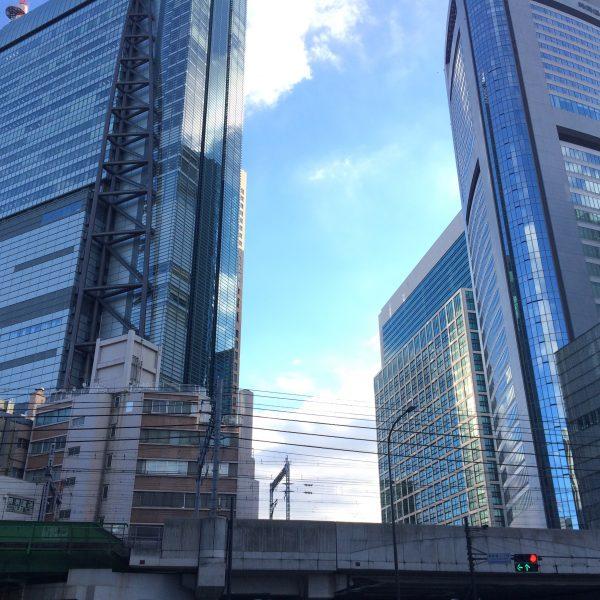 汐留の高層ビル街の写真