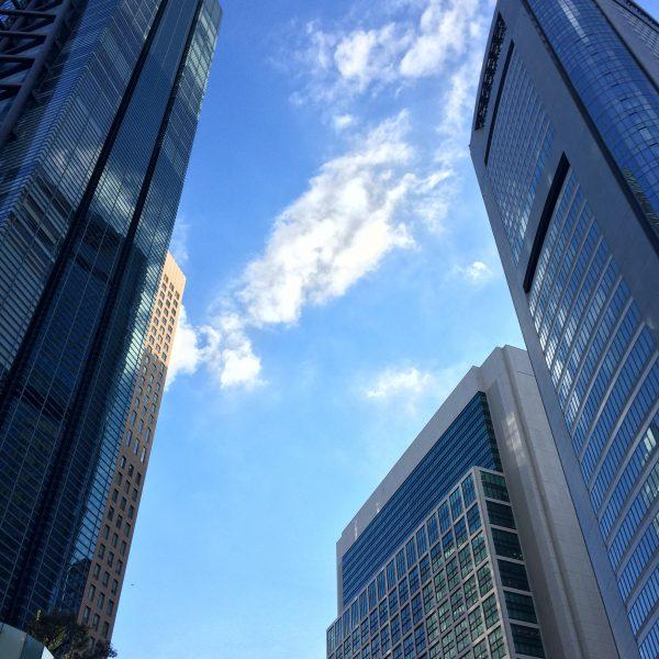 汐留の高層ビル街2の写真