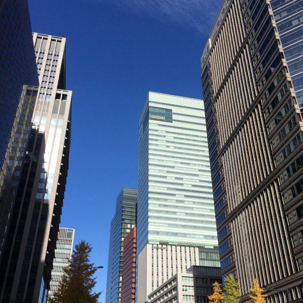 大手町の高層ビル街5の写真