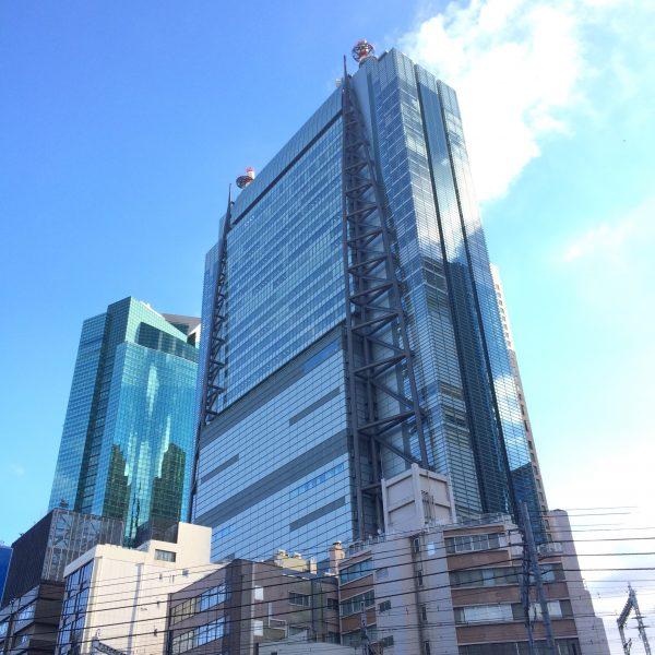 汐留の日本テレビタワーの写真