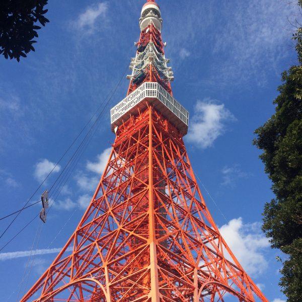 東京タワーと青空3の写真
