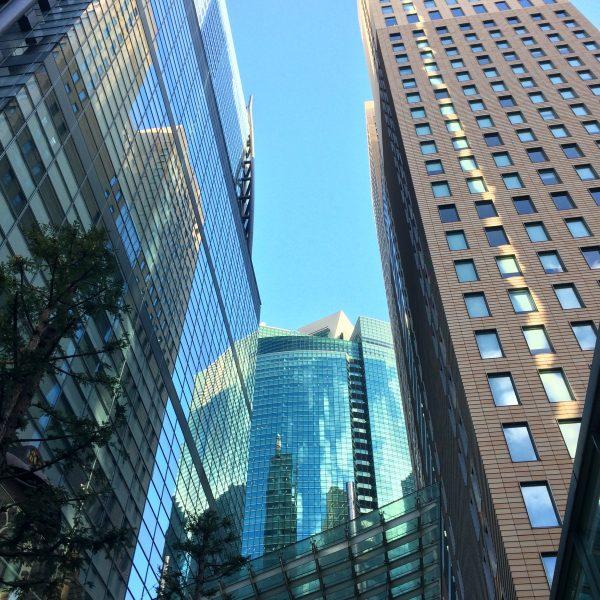 汐留の高層ビル街6の写真