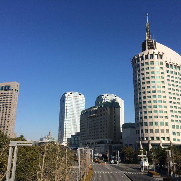 幕張新都心の高層ホテル群の写真