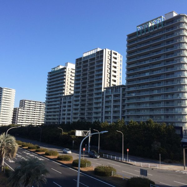 幕張ベイタウンのマンション群の写真