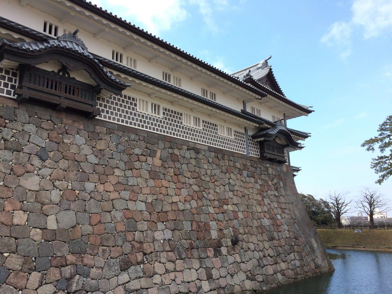 金沢城とお堀1の写真