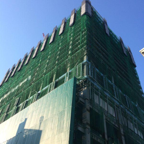 渋谷の高層ビルの建設現場2の写真