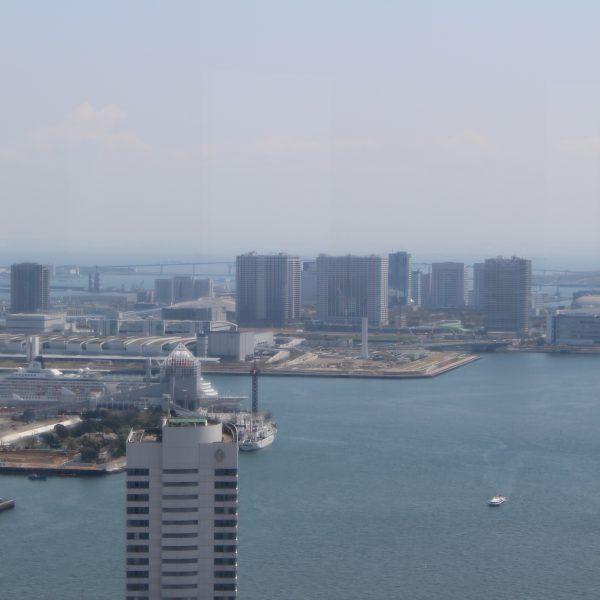 展望台から見た有明の高層ビル街の写真