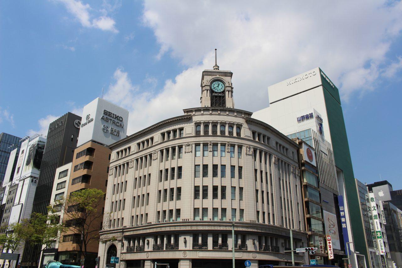 separation shoes dac7f 12078 銀座・和光の時計台のロイヤリティフリー素材写真 商用利用可