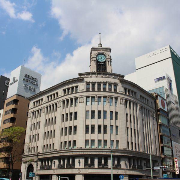 銀座・和光の時計台の写真