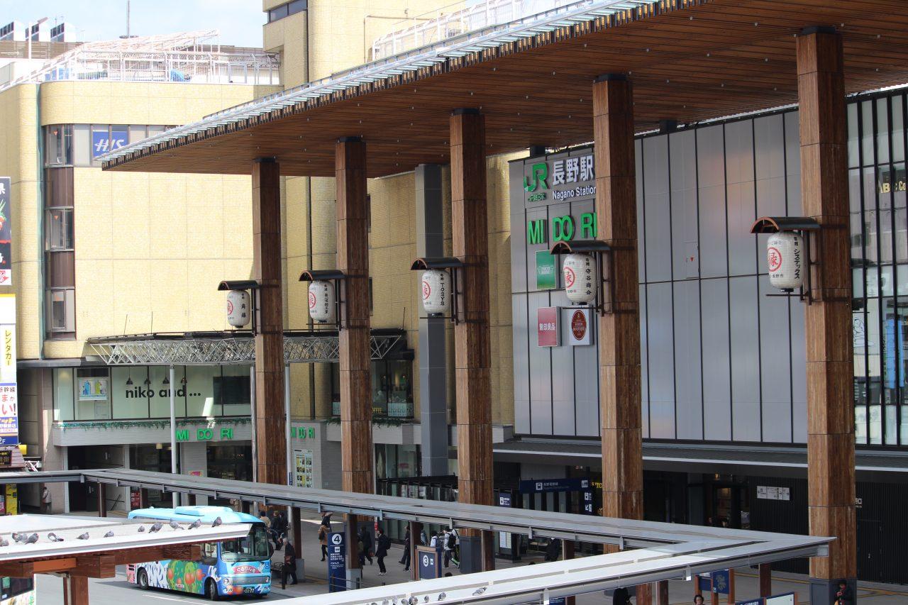 長野駅善光寺口の外観の写真