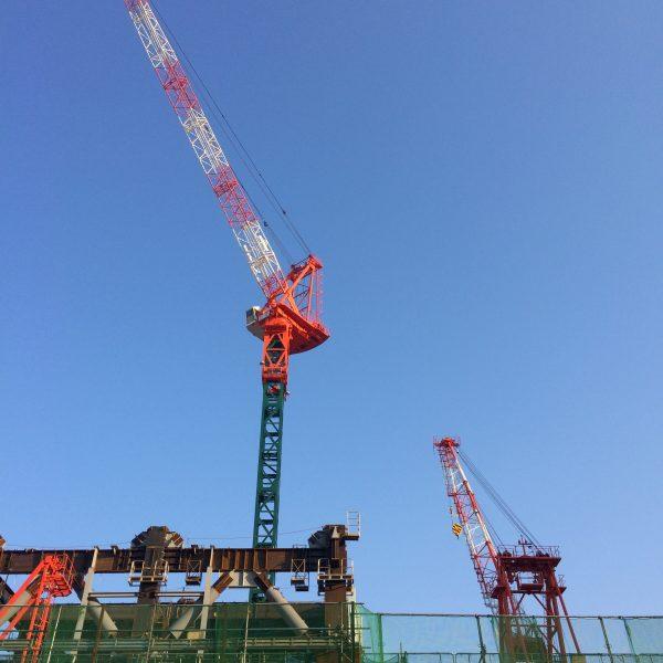 渋谷駅のタワークレーン3の写真