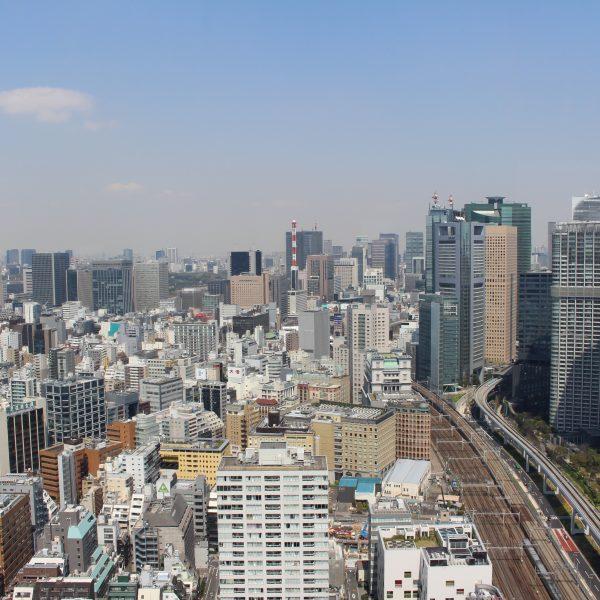 展望台から見た汐留・新橋の街並み2の写真