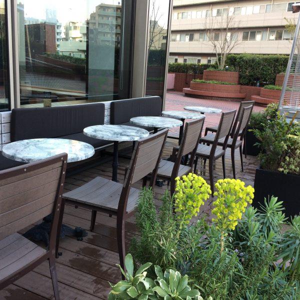 恵比寿ガーデンプレイスのオープンカフェの写真