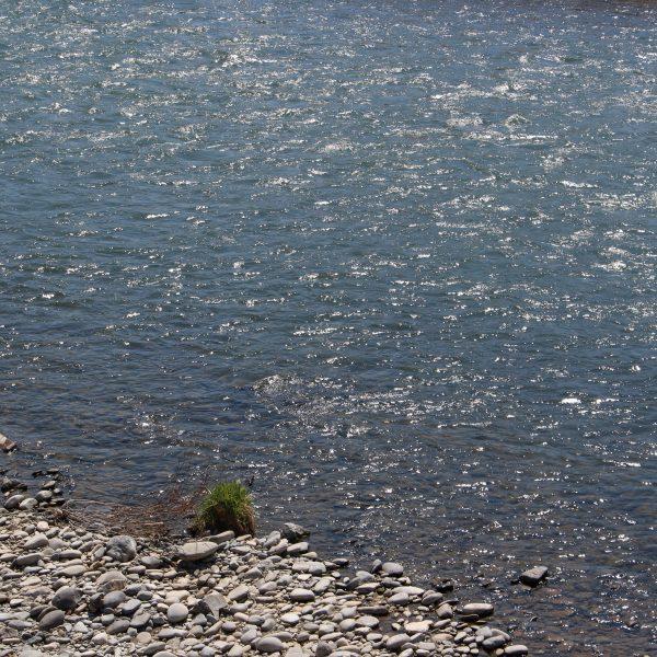 千曲川の流れの写真