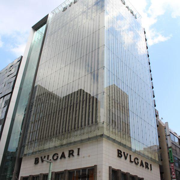銀座のBVLGARI(ブルガリ)の路面店の写真