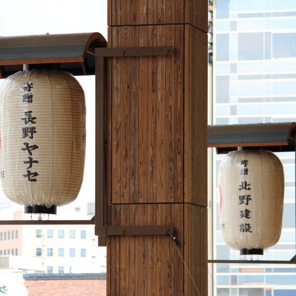 長野駅の提灯1の写真