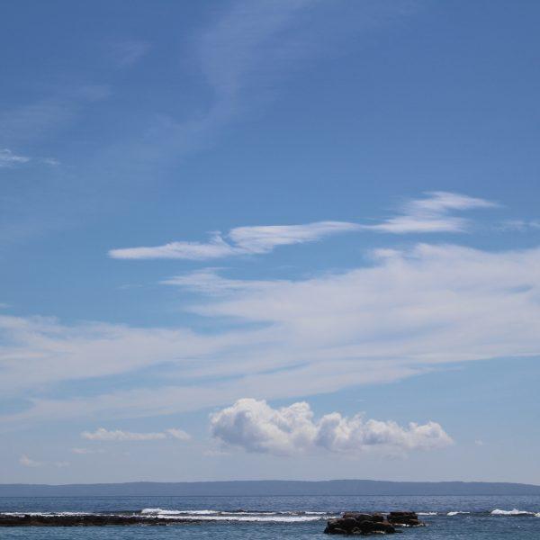 青空と海の写真