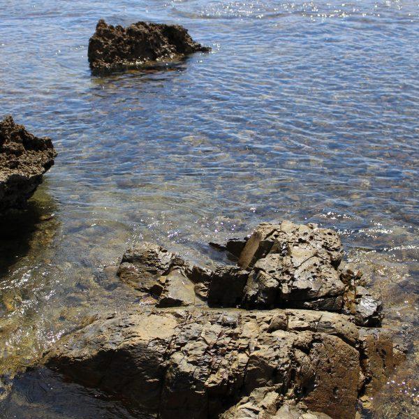 春田浜海水浴場の岩礁1の写真