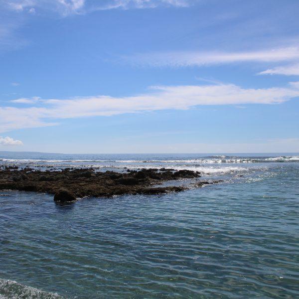 海岸と青空の写真