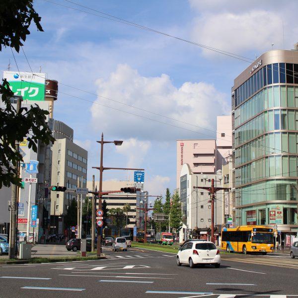 鹿児島中央駅前の街並2の写真